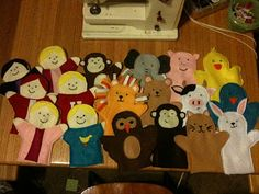 Felt Puppets for christmas to go with the doorway puppet theater I made!