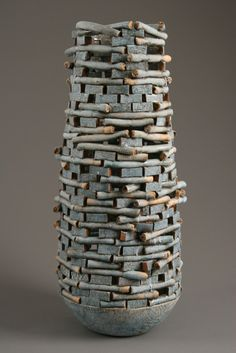 coil project?; different take on the hand building technique    Blue Keep - Jim Kraft #ceramic #art
