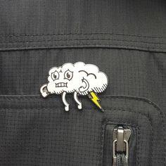 #Repost @calebpaullus Are you sporting your Lightning Farting Cloud Pin yet? Get…
