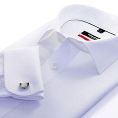 Executive Men's Shirt Cutaway Collar, Business Shirts, Gentleman Style, Mens Suits, New Outfits, Long Sleeve Shirts, Dress Shirts, Mens Fashion, My Style