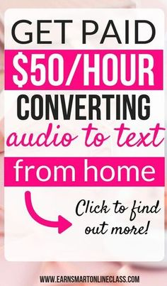 Want to make money converting audio to text? You are at the right place! Want to make money converting audio to text? You are at the right place! Earn Money From Home, Make Money Fast, Earn Money Online, Make Money Blogging, Saving Money, How To Earn Money, Money Tips, Ideas To Make Money, Making Money From Home