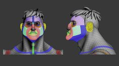 Animation Topology for a Cartoon model and blendshapes with diferent animations