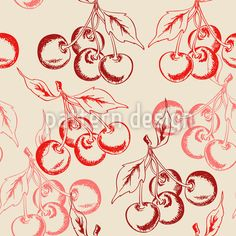 Cherry seamless pattern vector by Artspace on VectorStock® Frappe, Old Fashioned Cherries, Vektor Muster, Vintage Stil, Surface Design, Vector Art, Texture, Illustration, Cherry