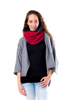 Dark red warm cotton scarf with fleece lining, dressign.com Cotton Scarf, Dark Red, Scarves, Warm, Collection, Style, Fashion, Scarfs, Moda