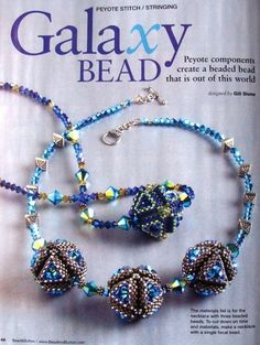 Shows magazine tutorial for triangle shaped beads
