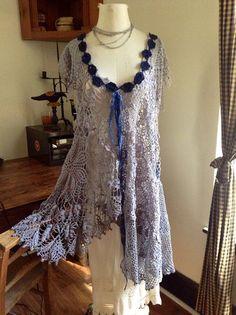 Luv Lucy crochet dress Lucy's Wild River by LuvLucyArtToWear, $210.00