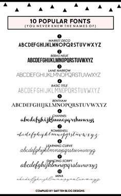 popular fonts -smitt