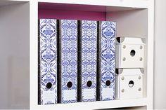 Lever Arch Labels: Porcelain Blue by Design-A-File