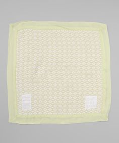 Green Classic Weave Security Blanket