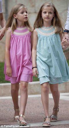 Adorable: Infanta Sofia (left) and Infanta Leonor (right) of Spain