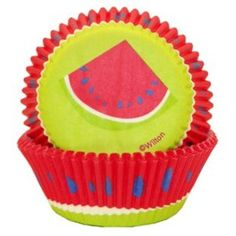 Summer Cupcake Liners Watermelon Design