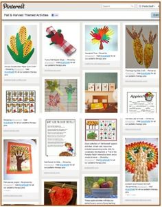 Pinterest Pinboard of the Week – Therapy Activities and Resources with Autumn and Harvest Themes - - Pinned by #PediaStaff.  Visit http://ht.ly/63sNt for all our pediatric therapy pins