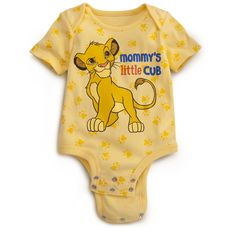 Little Cub LION KING Disney Cuddly Bodysuit