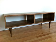 Made to order Danish Modern Style TV Stand / Coffee Table- from STORnewyork on Etsly. Tv Furniture, Furniture Design, Furniture Ideas, Modern Furniture, Tv Stand And Coffee Table, Farmhouse Tv Stand, Modern Farmhouse, Tv Entertainment Stand, Tv Stand Decor