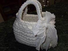 Le borse di Lella borsa in fettuccia bianca