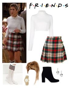 """""""Rachel Green outfit!!"""" by be-robinson ❤ liked on Polyvore featuring Balmain, DKNY and Yves Saint Laurent"""