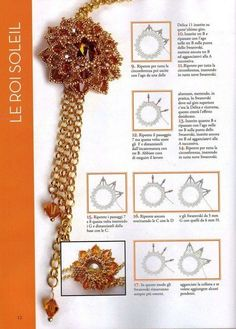 Flower picot for a bezeled rivoli in a #pendant