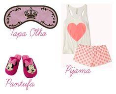 """""""Pijama da Cah"""" by sarah-hellen-meireles-oliveira on Polyvore featuring moda e Swarovski"""