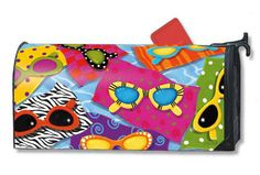 Magnet Works MailWraps Mailbox Cover - Fun in the Sun Design Magnetic Mail at GardenHouseFlags