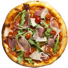 Neapolitan Pizza Dough Recipe - - -Marinated Cherry Tomato, Prosciutto, Parmesean, Arugula