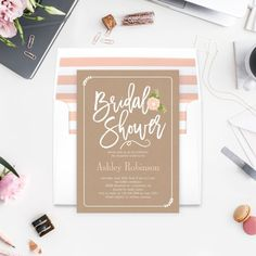 Garden Blooms Bridal Shower Invitation