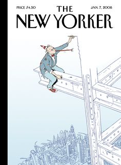 "The New Yorker - Monday, January 7, 2008 - Issue # 4245 - Vol. 83 - N° 42 - Cover ""On the Edge"" by Istvan Banyai"