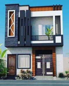 House Balcony Design, House Outer Design, House Outside Design, 2 Storey House Design, Unique House Design, Bungalow House Design, House Front Design, Narrow House Designs, Modern Exterior House Designs