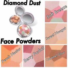 Diamond dust face powders 😍 what shade will you choose? Face Powder, Parfait, Caramel, Berries, Glow, Eyeshadow, Peach, Skin Care, Diamond