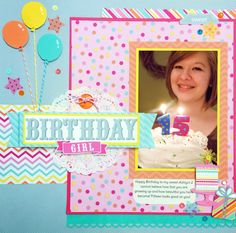 Sugar Shoppe Collection Launch Party + Giveaway with Doodlebug Design - sweet birthday layout