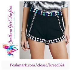 """FREE PEOPLE Shorts High Rise Embroidered Briefs Size 2. New with tags. $128 Retail + Tax.    Beautiful high rise embroidered cotton & linen shorts.  Hidden side zip closure. Run true to size.    Measurements for Size 2: Waist: 29.5"""" Hips: 37"""" Rise: 10"""" Inseam: 2.75""""     ❗️ Please - no trades, PP, holds, or Modeling.    Bundle 2+ items for a 20% discount!    Stop by my closet for even more items from this brand!  ✔️ Items are priced to sell, however reasonable offers will be considered when…"""