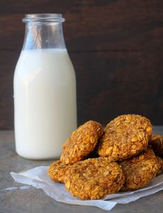 oats and pumpkin breakfast cookies4