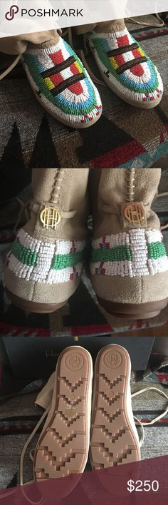 """• Rare House of Harlow Moccasins • New Listing These beauties have never been worn, and it does make my heart hurt to part with them!   They have become harder to find these days, especially in this condition. Perfect. Brand new in box. Never worn. But, they deserve to be worn and not just """"collected"""" as is my habit. Price is firm on these rare, perfect beauties. Thanks for stopping by.  House of Harlow 1960 Shoes Moccasins"""