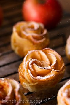 Apple Roses Dessert Recipe - perfect dessert recipe to celebrate fall, or celebrate any other holidays like Thanksgiving, Christmas or even Valentines Day!