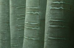 Linen Sheer Horizontal Stripe Drapery Fabric in Turquoise & Olive is 100% Belgian linen ideal for drapes, roman shades, curtains, and bed canopy. This beautiful color adds a bright refreshing look to interior designs.