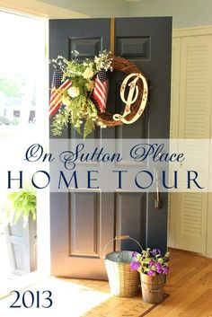 Take this home tour and see how the homeowner adds vintage touches to classic decor.