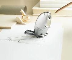 We loved the Kastor pencil sharpener by Rodrigo Torres, the designer who created Alessi's Chip paper clip holder.