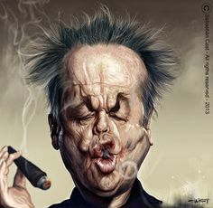 The Exhibition of Caricature by Sebastian Cast from Argentina :: Jack_Nicholson Jack Nicholson, Cartoon Faces, Funny Faces, Cartoon Art, Funny Caricatures, Celebrity Caricatures, Sketch Manga, Caricature Drawing, Wow Art