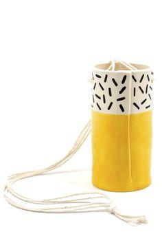 Yellow Hanging Vase