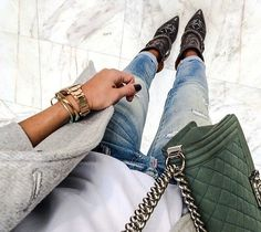 Le boy chanel green - casual denim - style - likeitloveit