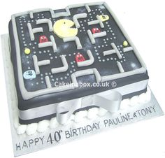 Space Invaders Celebration Cake