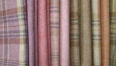 Moon Fabrics - Heather Wools collection tartan curtains