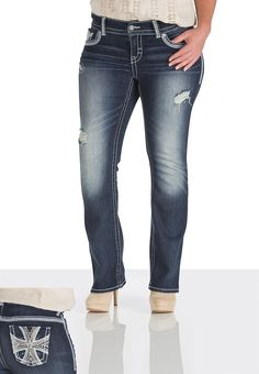 Maurices Premium Thick Stitch Embellished Jeans