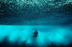"Photo by Chris Burkard.  ""The Sea will wash it all away.""  #Beautiful #blue #sea #underwater #photography"