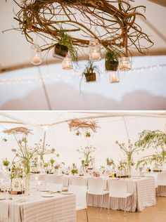 light and airy botanical reception