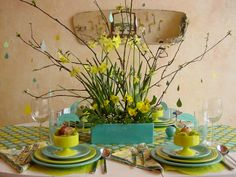 Cute Spring Showers Wedding Theme Decor In Turquoise And Green