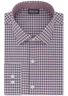 Kenneth Cole Reaction Men s Slim-Fit Techni-Cole Stretch Performance  Gingham Dress Shirt Dress 4e91795a2