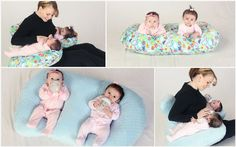 Nursing Pillow for Twins, The Twin Z Pillow for bottle feeding or breastfeeding twins.