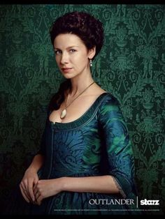 Blue Green Damask Court Dress - Claire Beauchamp Randall Fraser - Outlander Season 2 ♡ teaspoonheaven.com