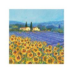 Sunflowers and lavender..my favorites!