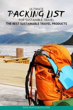 Everything you need for sustainable travel with this packing list! We cover the best sustainable travel products, clothing, toiletries and luggage! Travel Packing, Asia Travel, Travel Bags, Packing Tips, Europe Packing, Traveling Europe, Backpacking Europe, Travel Gifts, Ultimate Packing List